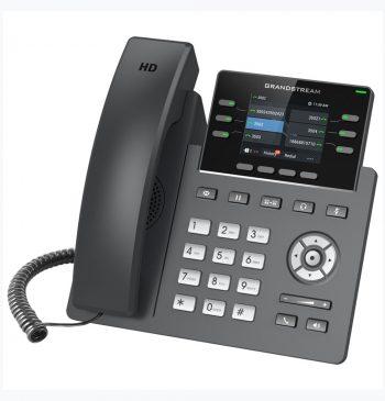 Telefone IP Grandstream POE/GIGABIT/3 LINHAS/3 contas SIP