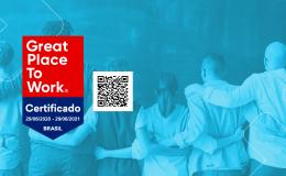 Pelo 2ª ano consecutivo a WDC Networks foi certificada com o selo Great Place to Work Brasil!